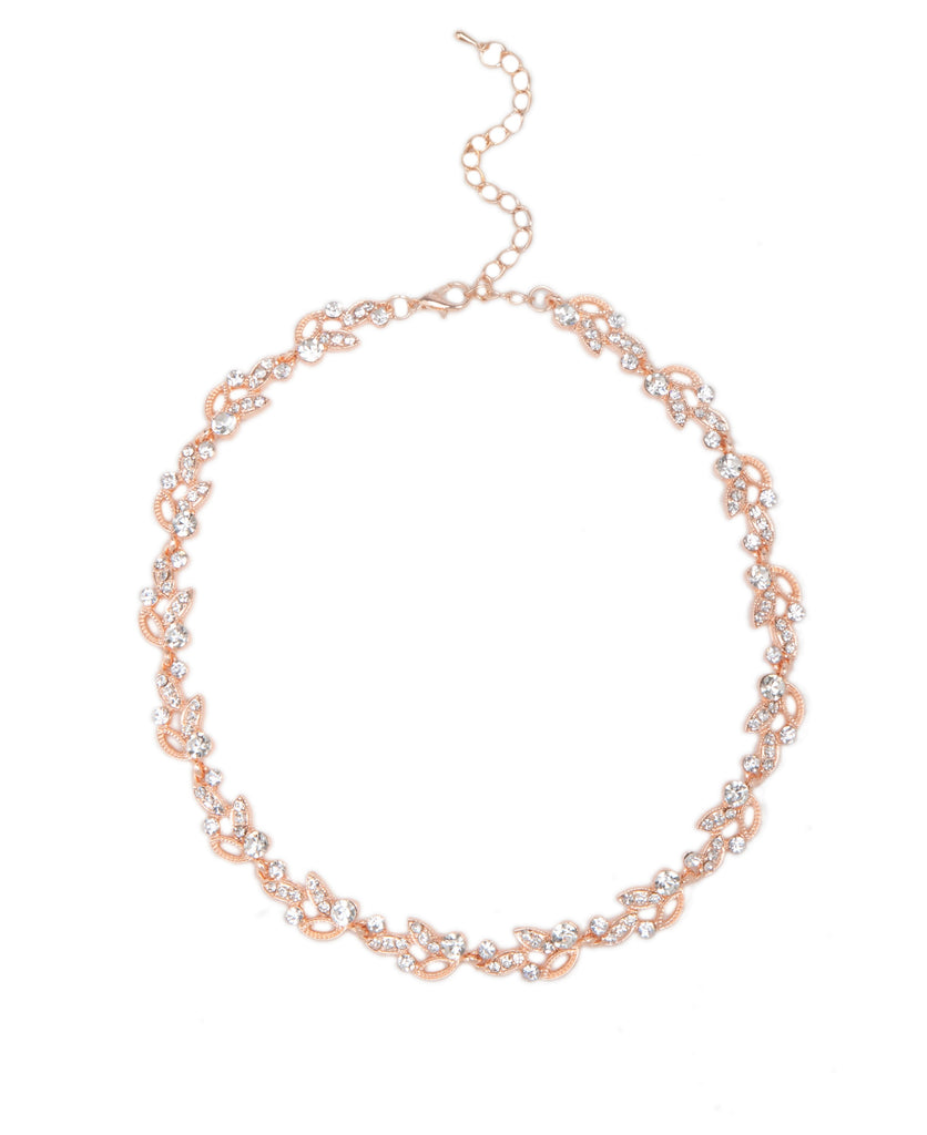 Crystal & Rose Gold Necklace