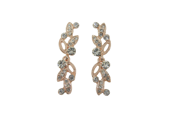 Crystal & Rose Gold Earring