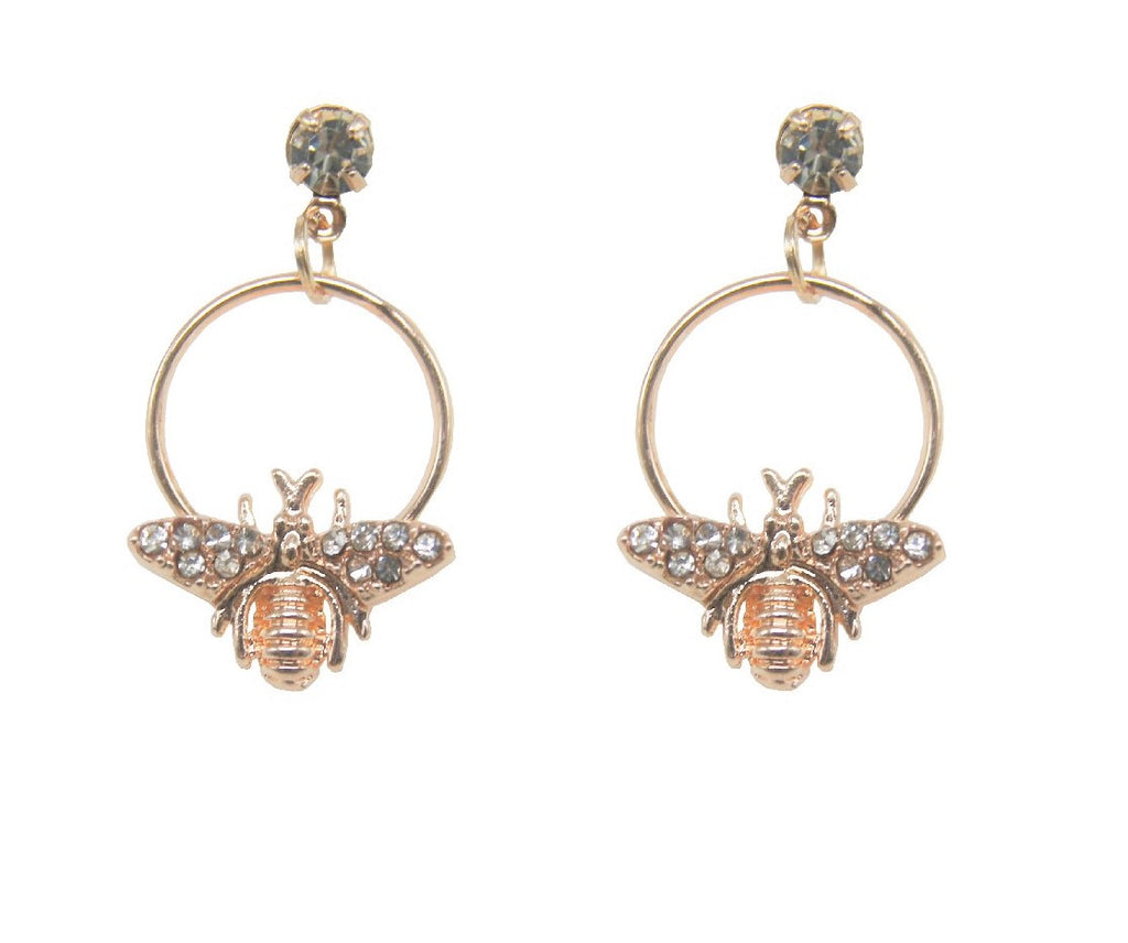 Bee Earring Rose Gold