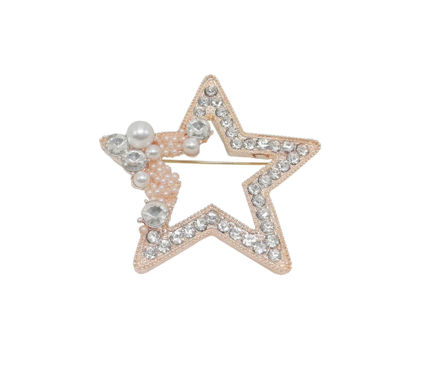 Star Brooch Rose Gold