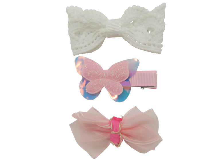 Sparkle 3pk Bow Butterfly Croc Set