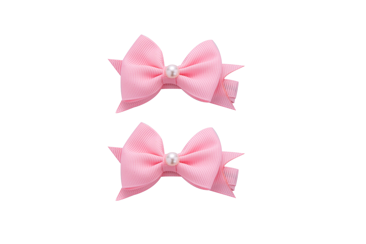 Sparkle 2pk Bow With Pearl Pink