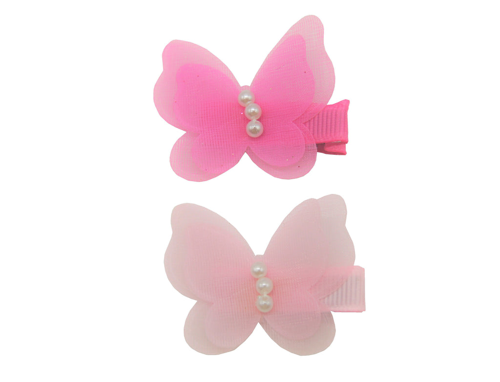 Sparkle 2pk Butterfly Clip Pink Mix