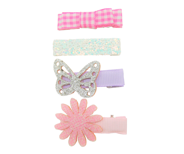 Sparkle 4pk Butterfly Croc Set