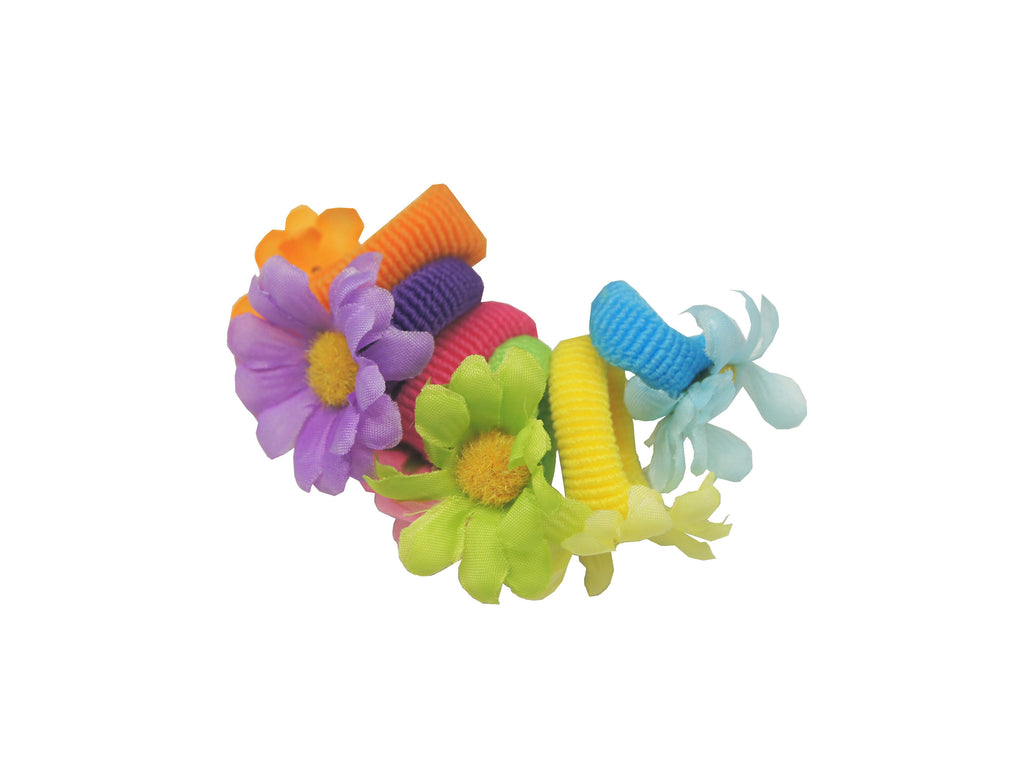 Sparkle 6pk Mini Flower Elastics