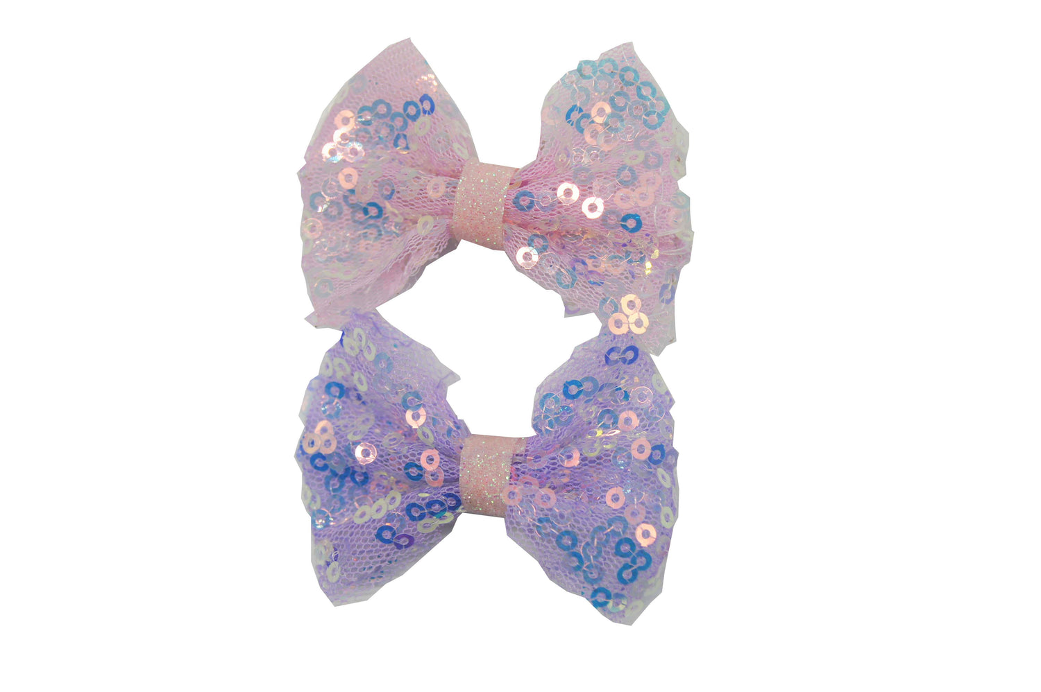 2pk Sequin Bow Croc