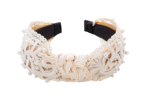 Pulse Professional Lace & Pearl Bow Knot Hairband