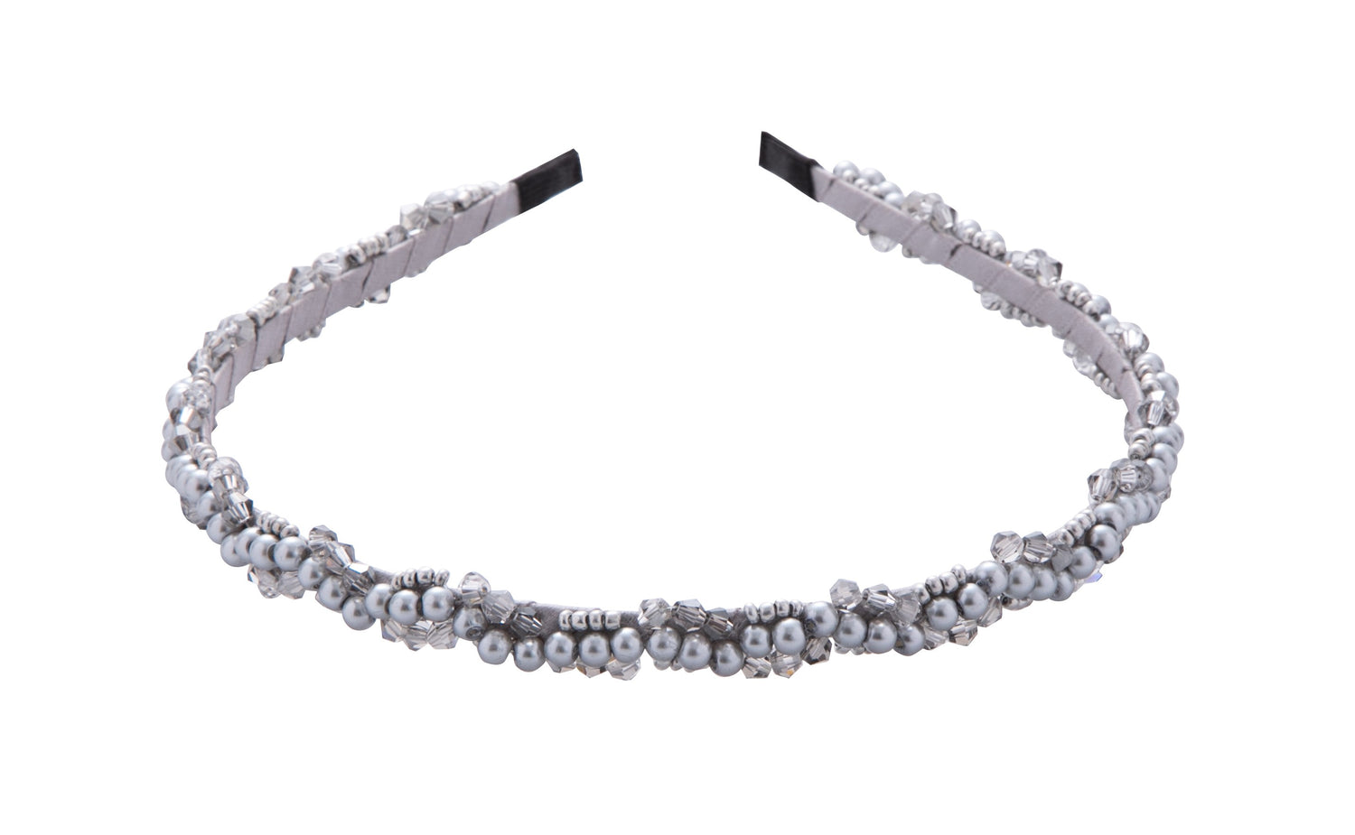 Pulse Professional Pearl & Bead Hairband Grey