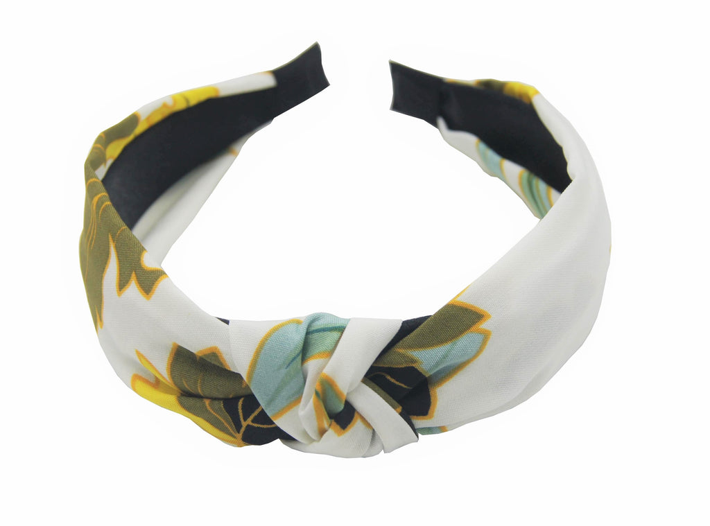 Pulse Professional Floral Hairband Ivory White