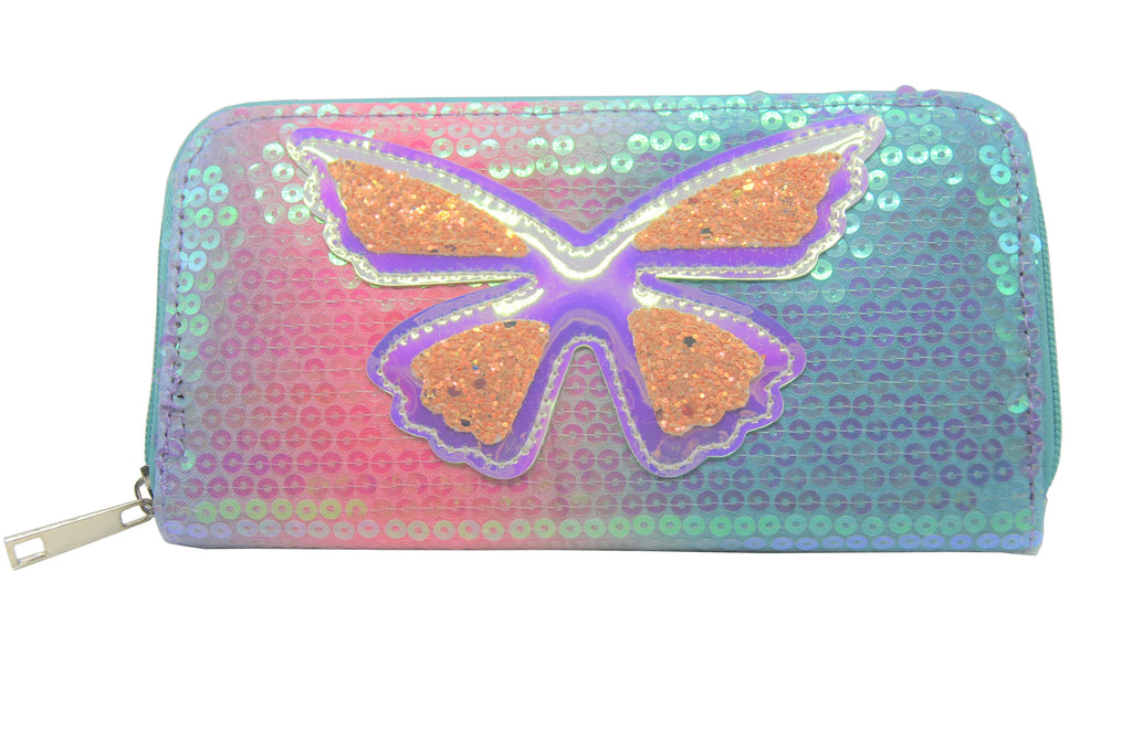 Sparkle Ombre Butterfly Wallet