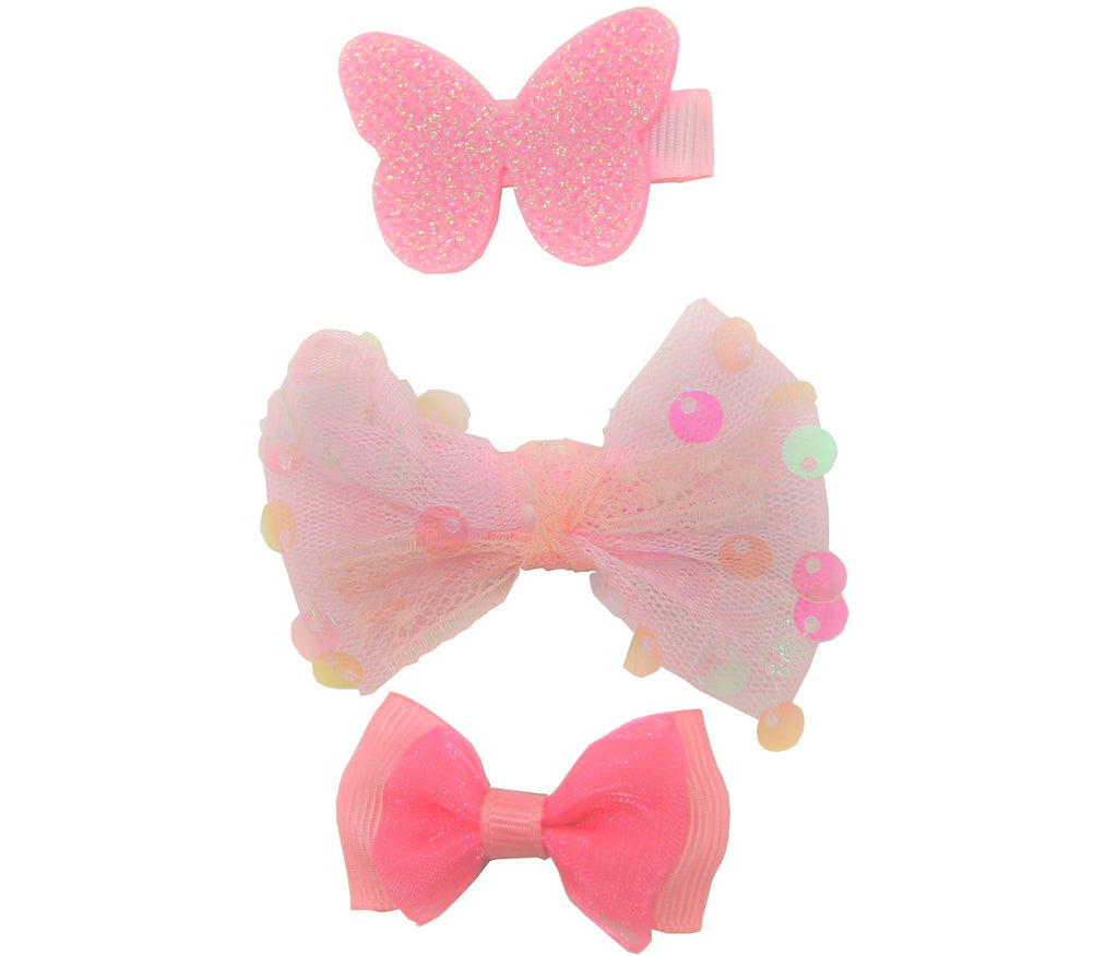 Sparkle 3pk Butterfly Bow Croc Set