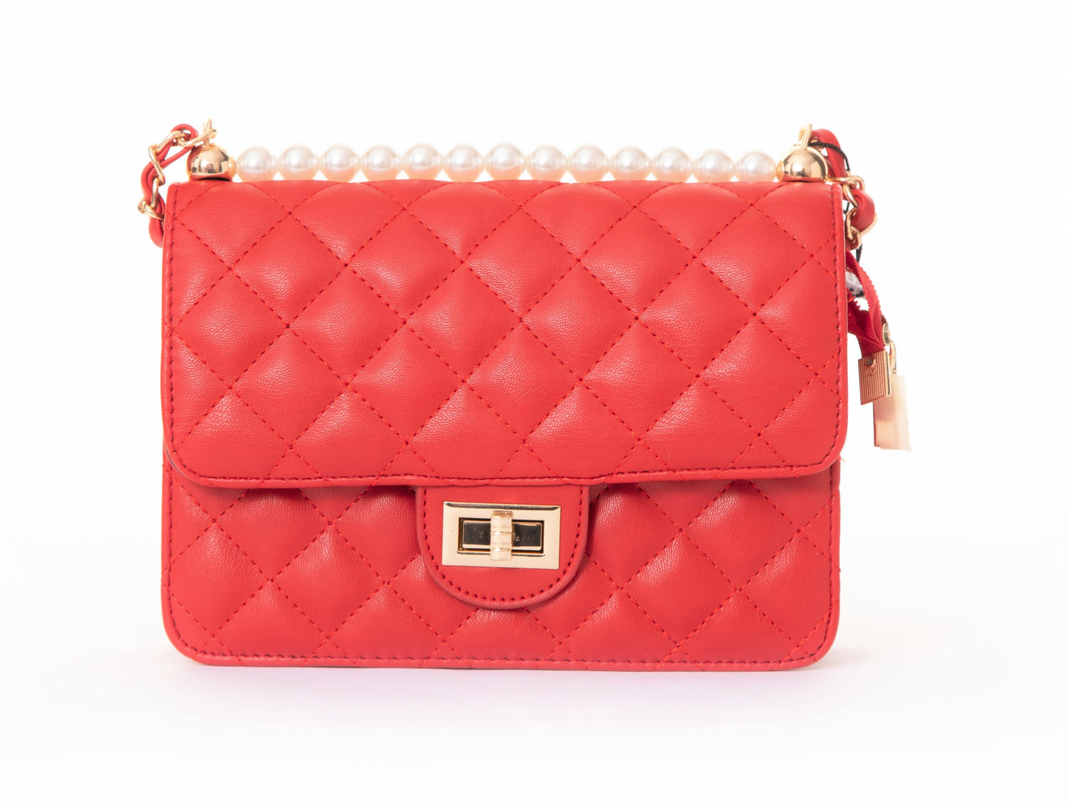 Pulse Accessories Quilted Handbag Red