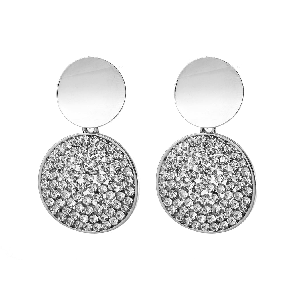 Double Circle Earring Silver