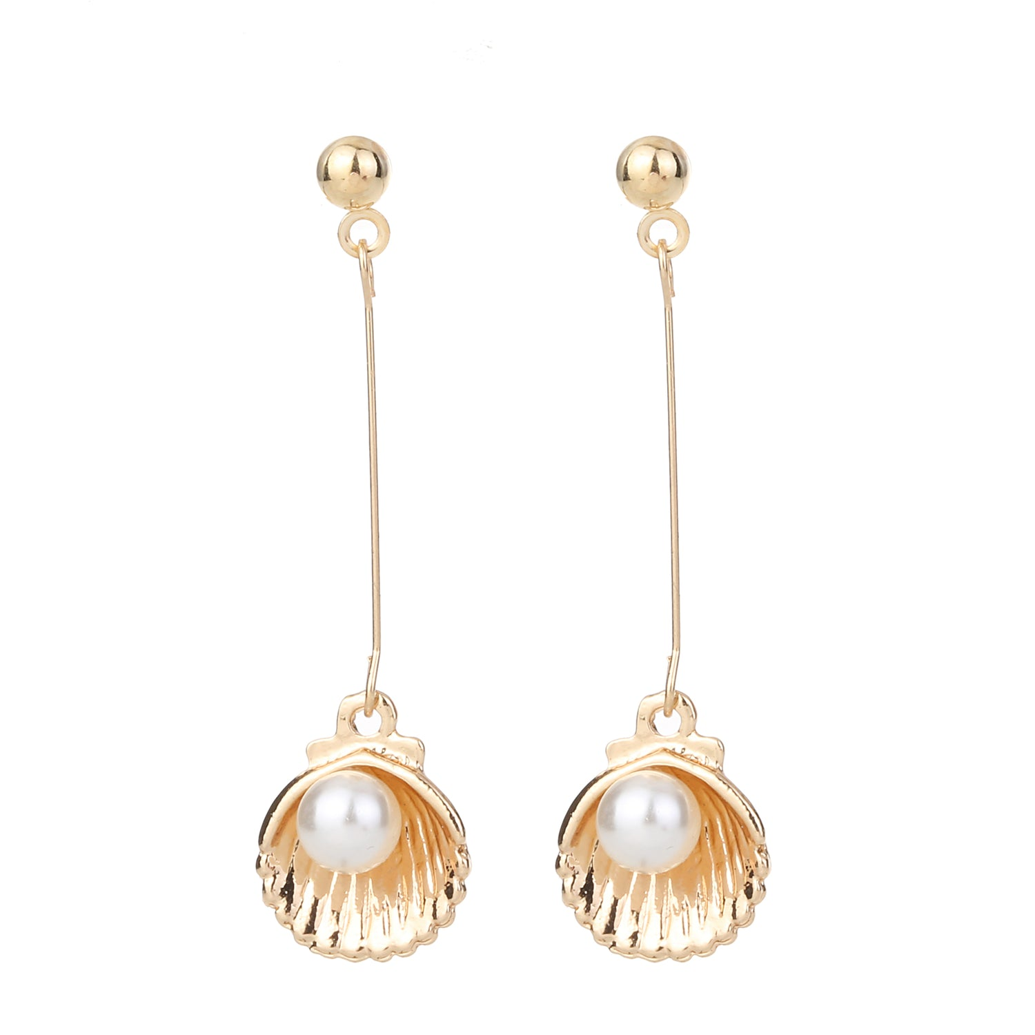 Shell Drop Earring Gold