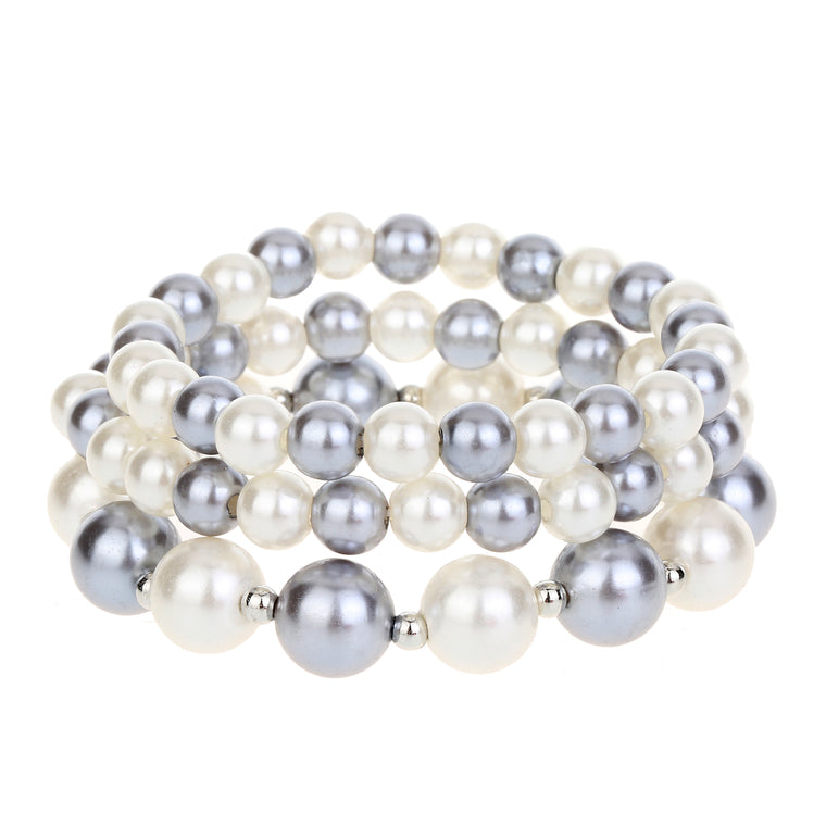 3pc Pearl Bracelet Set