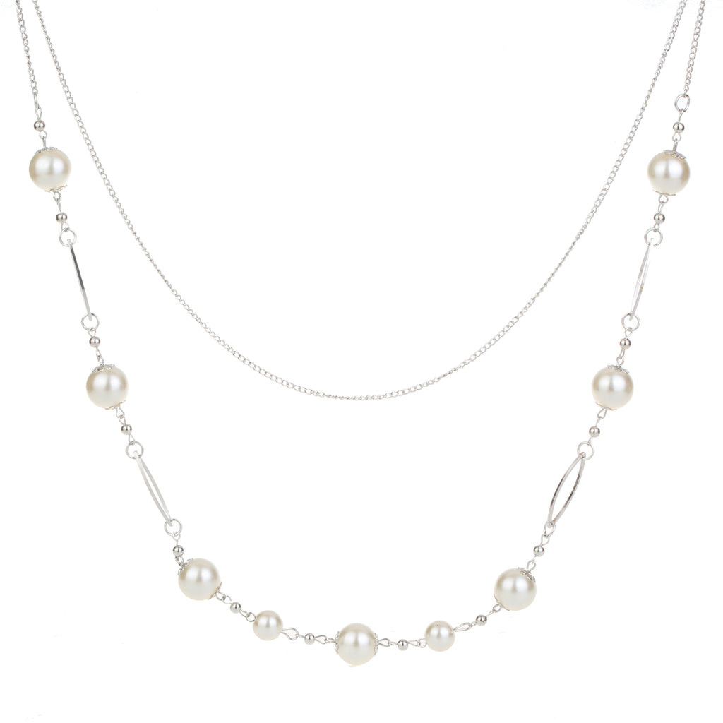 Long Necklace With Pearl Detail