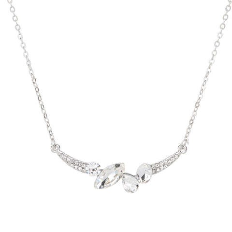 Crystal Necklace Silver