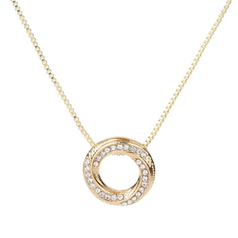 Circle Twist Necklace Gold