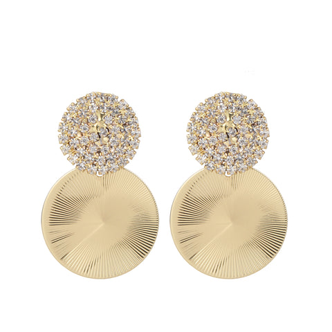 Double Circle Light Gold Earring