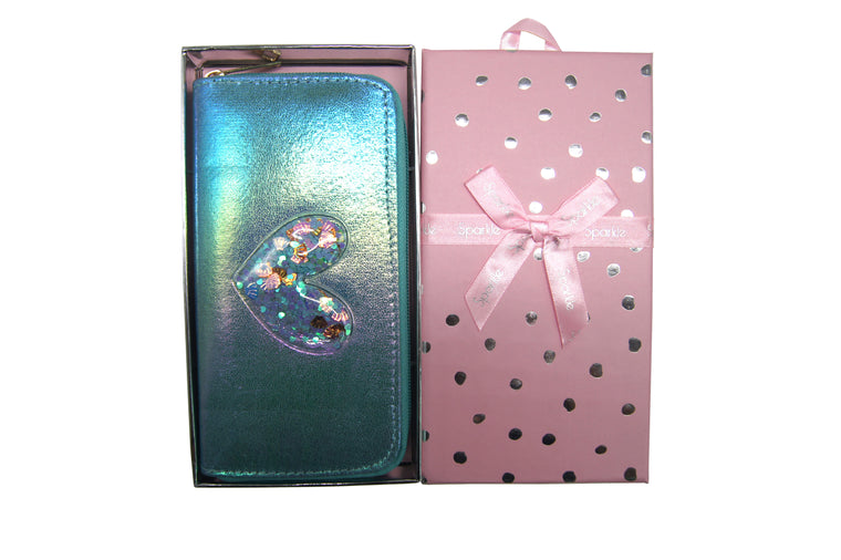 Sparkle Gift Box Wallet Blue
