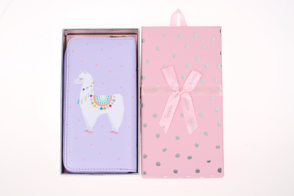 Sparkle Gift Box Wallet Lilac
