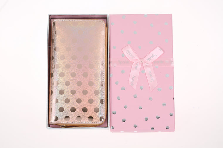 Sparkle Gift Box Wallet Gold