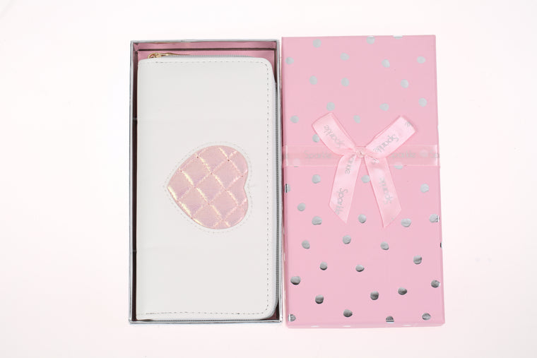 Sparkle Gift Box Wallet White