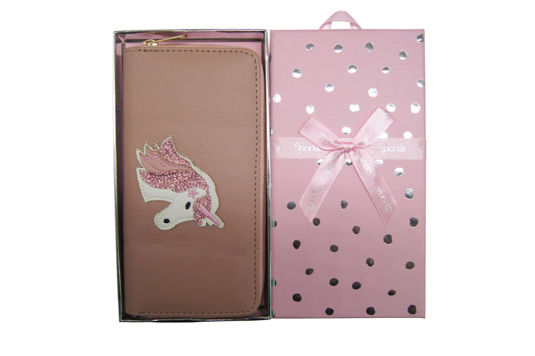 Sparkle Gift Box Wallet Unicorn