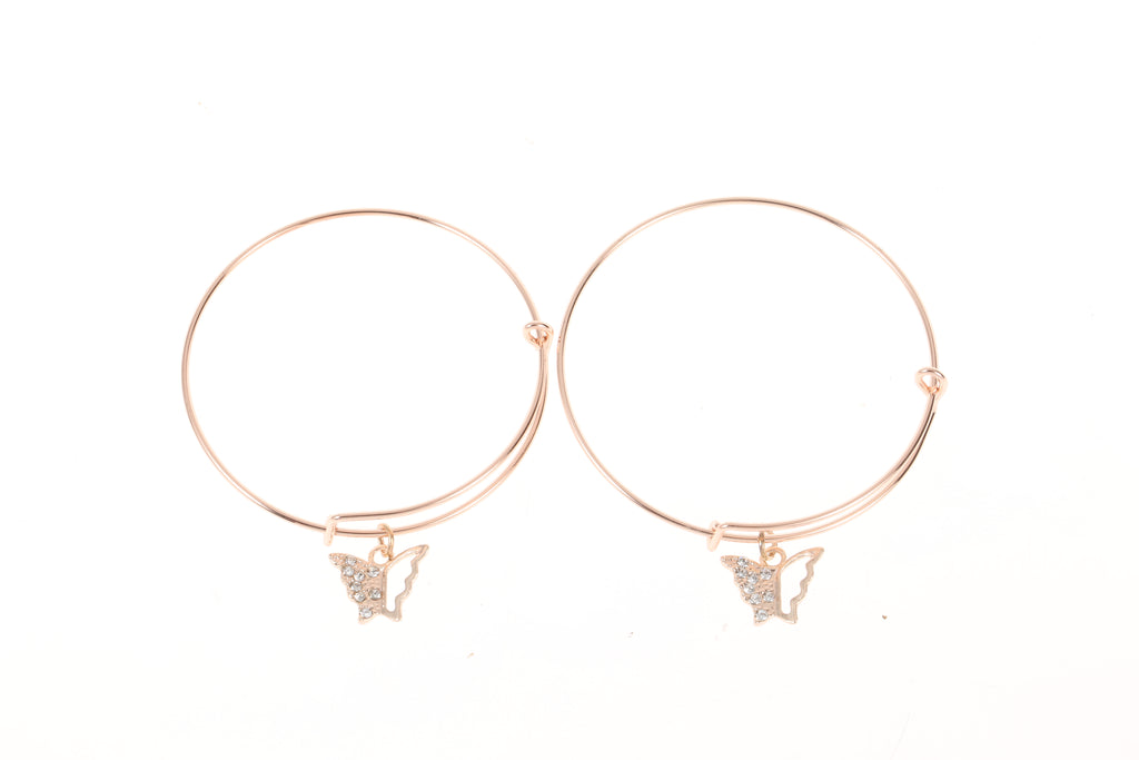 Sparkle Gift Box Butterfly Bangle Set
