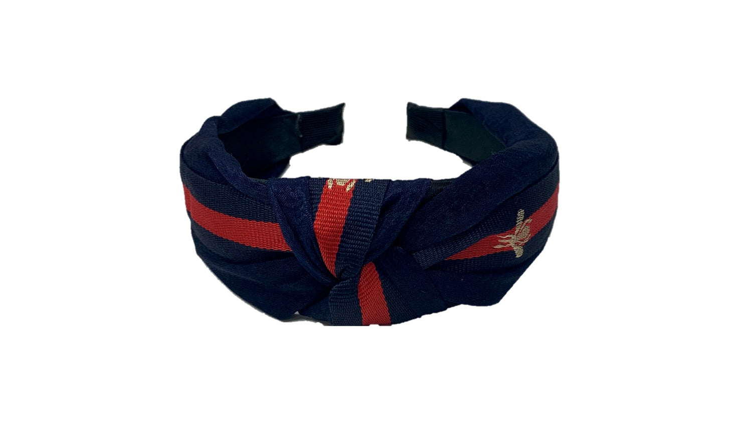 Pulse Professional Bee Knot Top Hairband Navy