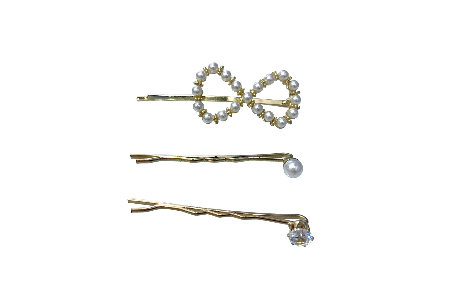 Pulse Professional 3pk Infinity Pearl Pin Set