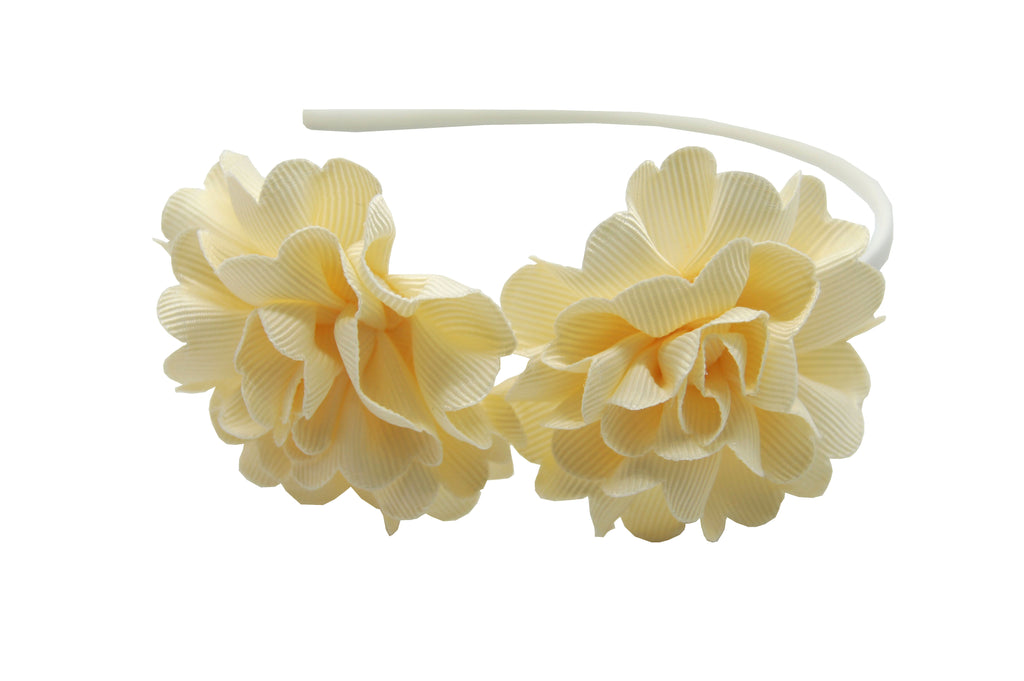 Sparkle Flower Hairband Cream