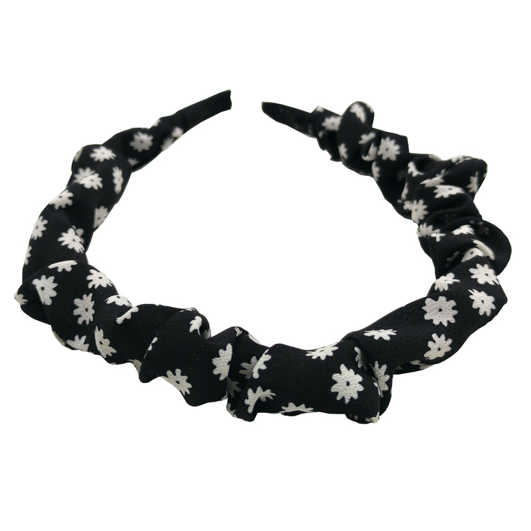 Pulse Professional Scrunched Hairband Floral Black