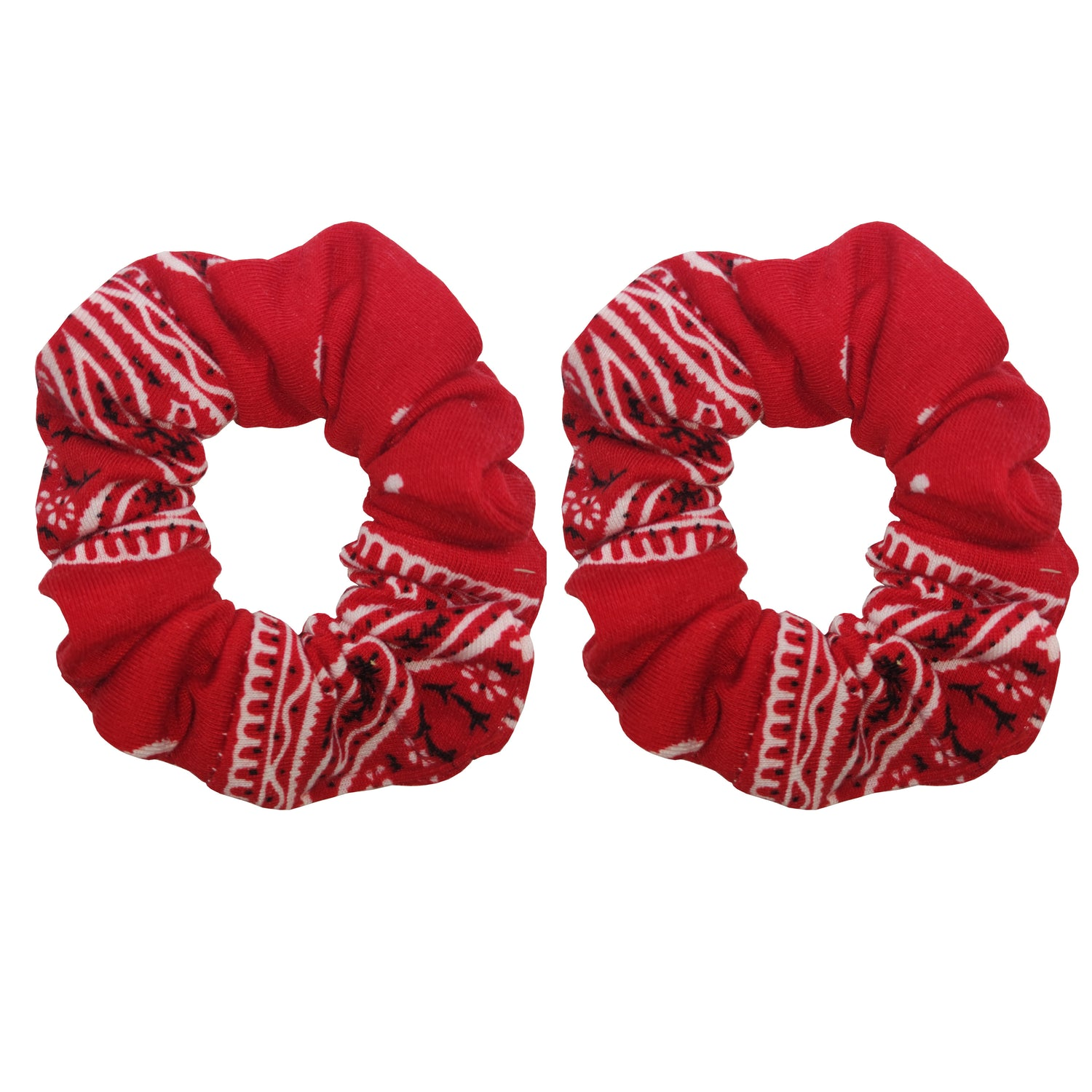 Sparkle 2pk Paisley Scrunchie - Red
