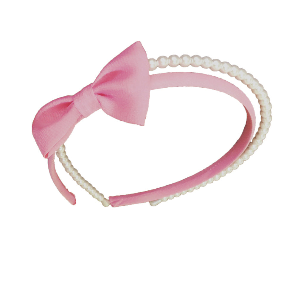 2pk Bow Pearl Hairband
