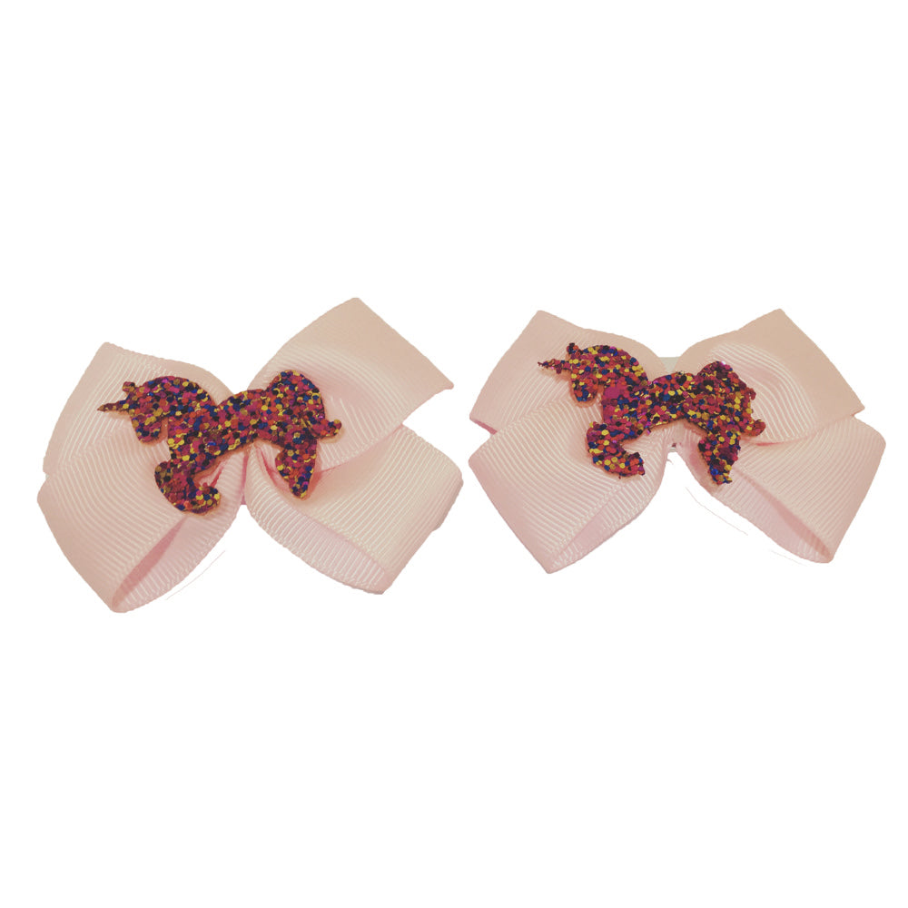 2pk Unicorn Bow Croc