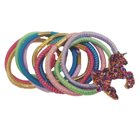 11pk Unicorn Elastic Set