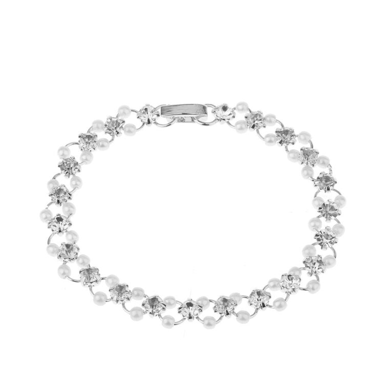 Diamante bracelet with pearl detail