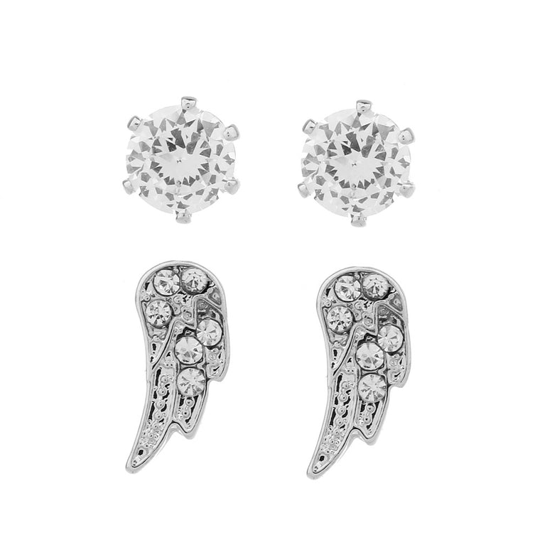 Delicate Ears 2pk Angel wing earring