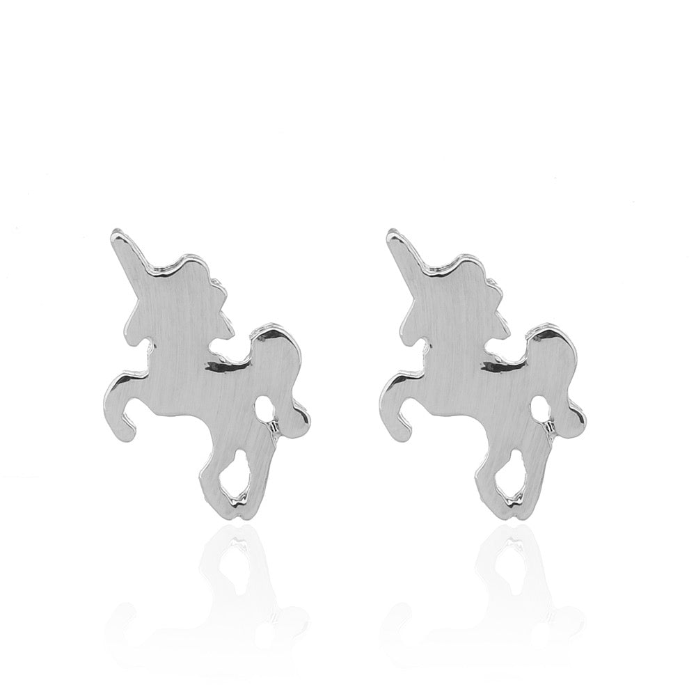Delicate Ears Unicorn Earring Silver Plating