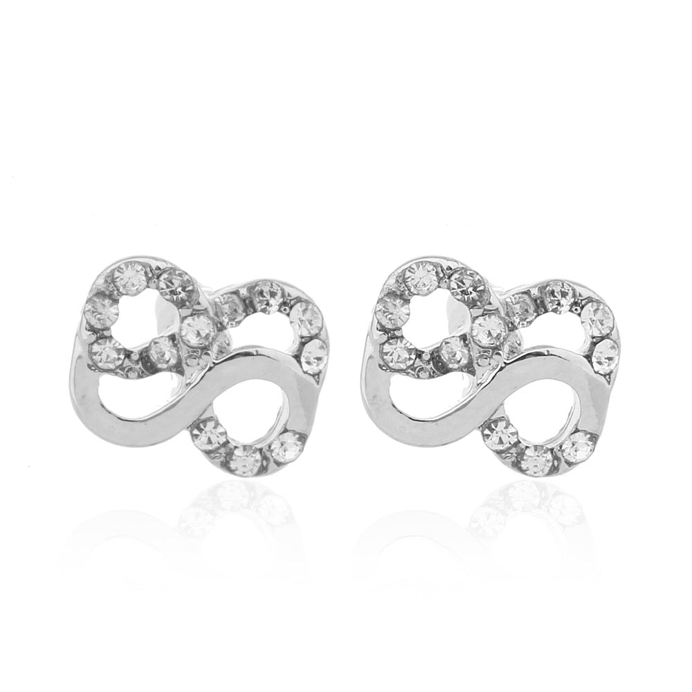 Delicate Ears Double Infinity Earring Silver Plating