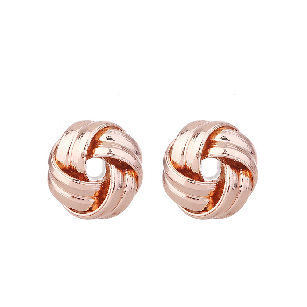Delicate Ears Twisted Earring Rose Gold Plating