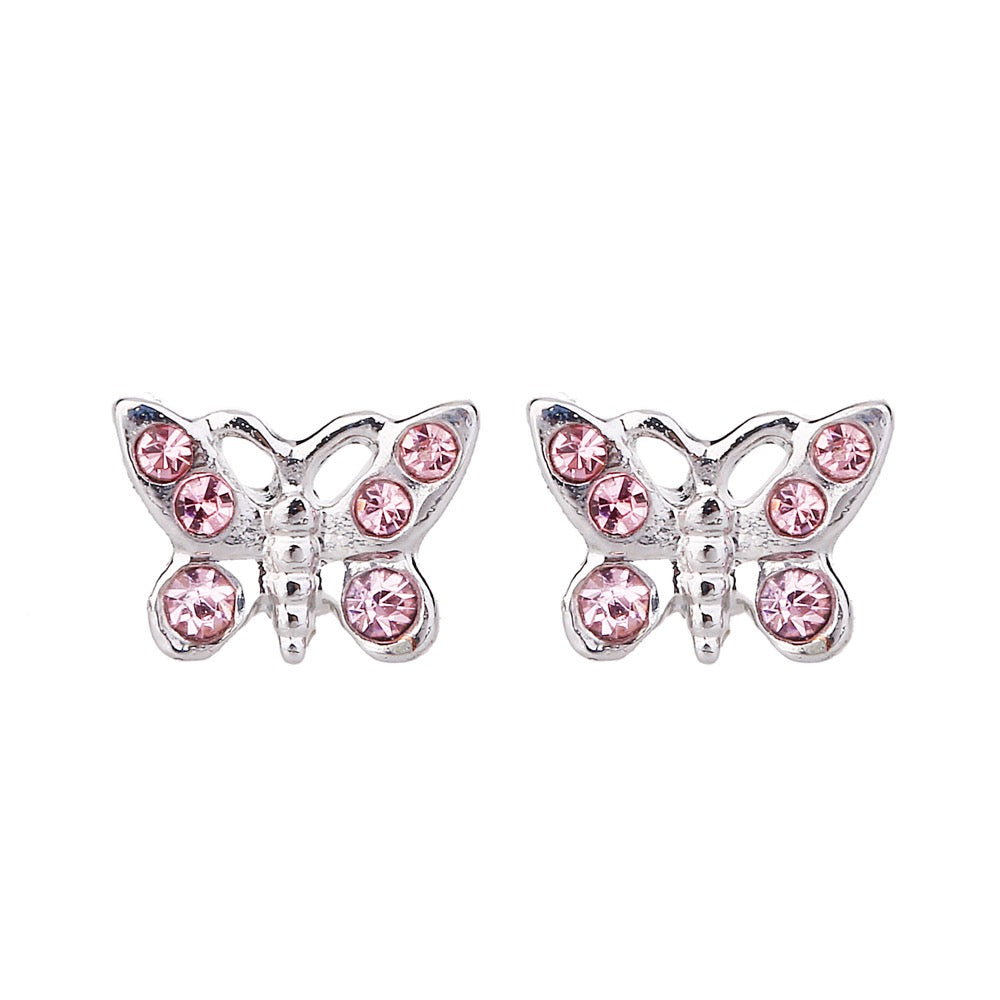 Delicate Ears Butterfly Earring Silver Plating