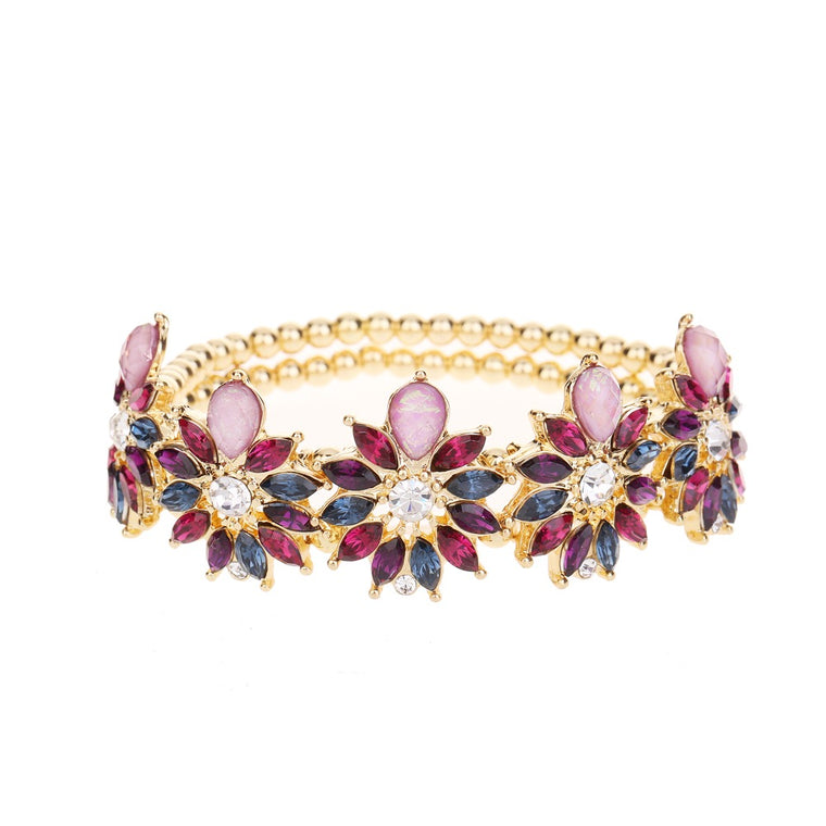Gem Bracelet Purple Tone