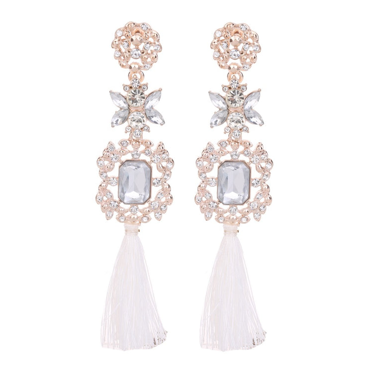 Statement Tassel Earring Crystal