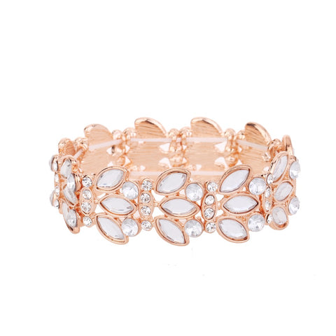 Crystal Statement Bracelet Rose Gold