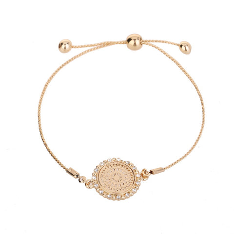 Medallion Bracelet Gold