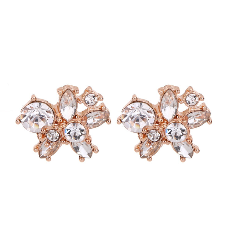 Crystal Stud Earring Rose Gold