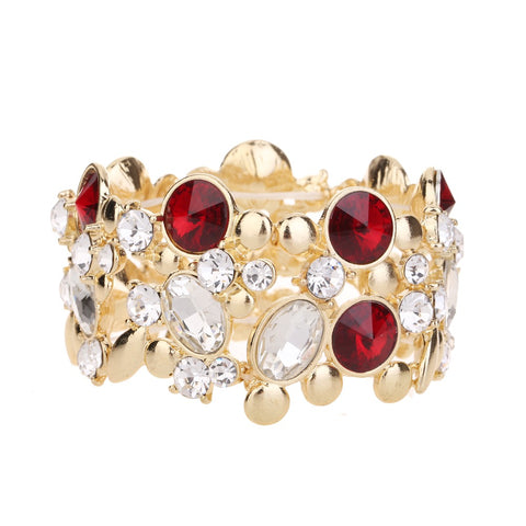 Crystal Bracelet Red Tone