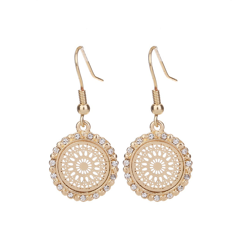 Medallion Earring Gold